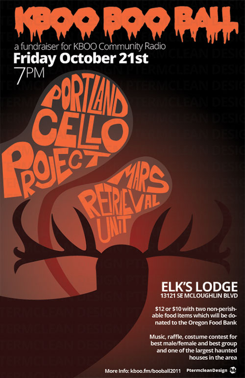 kboo radio portland cello project concert poster